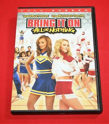BRING IT ON: ALL OR NOTHING (DVD, 2006, Full Frame) HAYDEN PANETTIERE ~DVD+CASE