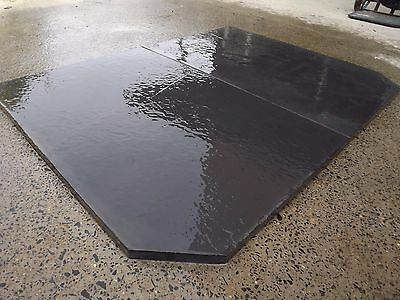 Slate hearth wood heater 20-25mm thick 900deep x 1150wide  we can cut to size,