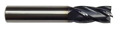 """3/8"""" 4 FLUTE CARBIDE END MILL - REGULAR LENGTH - TiALN COATED"""