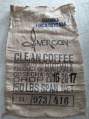 Recycled Coffee Sack Sphere Clean Coffee  Hessian Bag   (or 3 sacks for $35.00)
