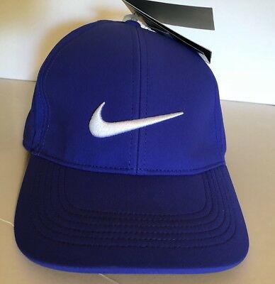 283168a479d94 NIKE GOLF HAT Dri-Fit Unisex Adjustable Cap Royal White Swoosh NWT ...
