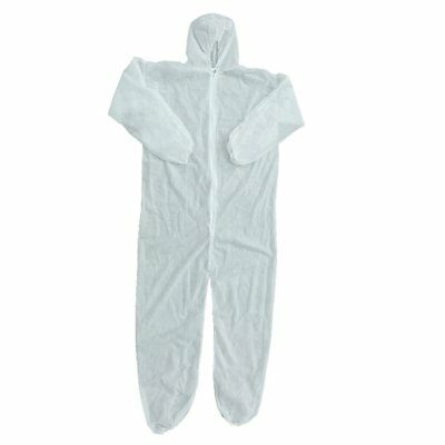 White Disposable Non-woven Dust-proof Clothing Coveralls Dust Spray Suit