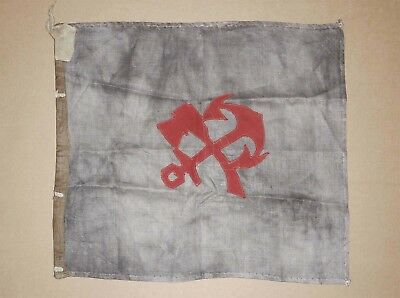 Extremely Rare Russian Imperial 4th Railroad Company Flag, WW1 White Guard