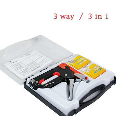 HEAVY DUTY STAPLE GUN TACKER UPHOLSTERY STAPLER/900 Nails Fastener Tool Kit