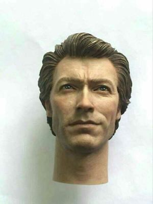 "Custom Made 1/6 Scale Clint Eastwood Head Sculpt Fit 12"" hot toys Body"