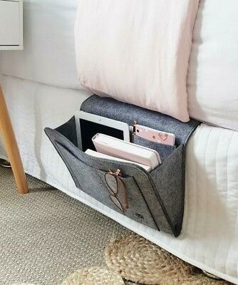 Bed storage, Bedside caddy, bedside table replacement, bedside organizer