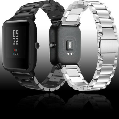 20mm Genuine Stainless Steel Wrist Band Strap For Xiaomi Huami Amazfit Bip