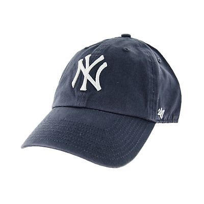 13e7515c55a 47 BRAND NEW York Yankees Clean Up MLB Dad Hat Cap Charcoal White ...