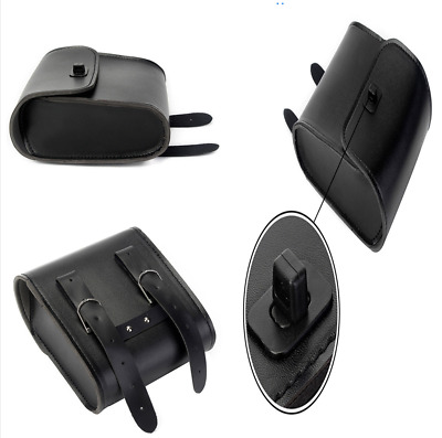 Durable PU Leather Motorcycle Front Handlebar Side Tool Bag Luggage Saddle Bags