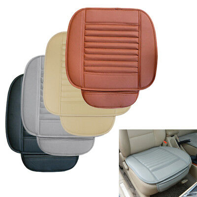 51x49cm Car Front Seat Cover Pad PU Leather Single Chair Protector Cushion Mat