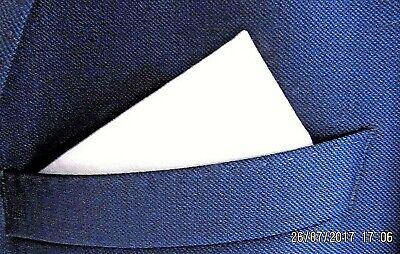 White Pocket Square Handkerchief Hanky Cotton Weddings  Prom Races Cruise Smart