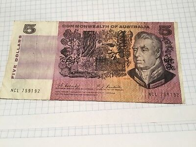 Commonwealth Of Australia $5 Banknote Coombs/Randall