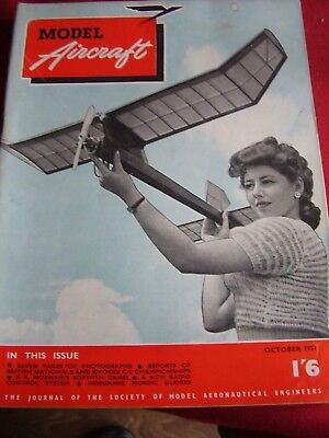 Model Aircraft Mag October 1951 Louise Le Bas Swansea B Adamson Aeromodeller