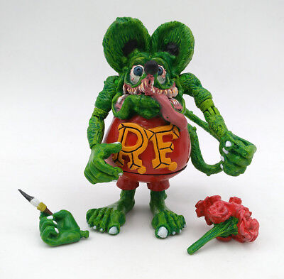 Green Rat Fink Ed Roth Wacky Wobbler Joint Hand Big Daddy Gift Action Figure