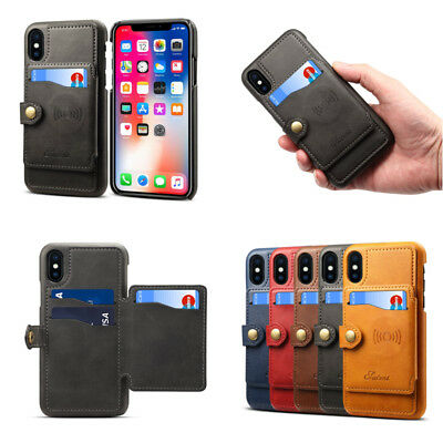 Shockproof Wallet Leather Cases With Card Holder for Apple iPhone X 8 6s 7 Plus