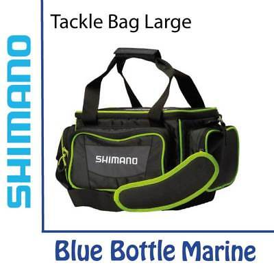 NEW Shimano Tackle Bag Large - Black/Green from Blue Bottle Marine