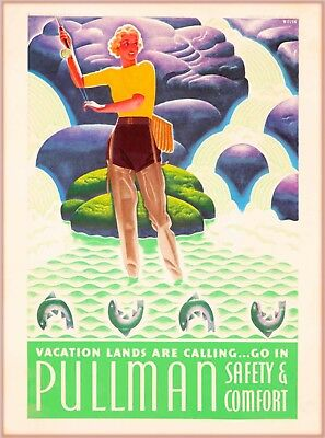 Vacation Lands are Calling Pullman United States Travel Advertisement Poster 2