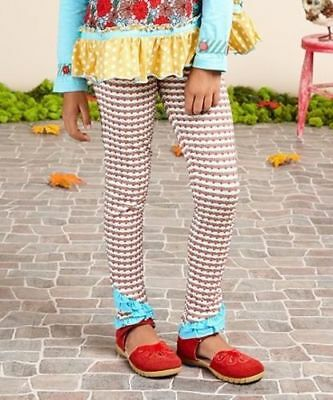 NWTIB Matilda Jane 18-24 Once Upon A Time Cream/Blue Stripe Brushwood Leggings