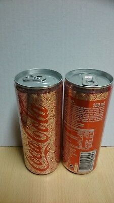Coca Cola can, Christmas Slovakia LIMITED EDITION 2017 , empty,