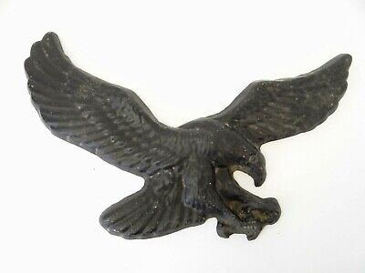 Vintage Used Black Painted Aluminum Heavy American Eagle Front Door Hanger Part