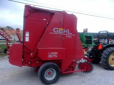 Nice Gehl 1875 Round Baler w/ Net Wrap(1000 rpm)-size 5x6 --CAN SHIP CHEAP