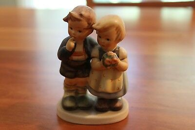 """Hummel Figurine: Boy and Girl with Flowers, 4"""" tall"""