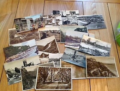 COLLECTION/JOB LOT 200 VINTAGE REAL PHOTOGRAPHIC POSTCARDS 1930s-1950s