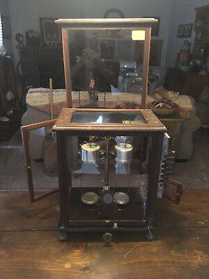 ANTIQUE SARTORIUS-WERKE ANALYTICAL BALANCE SCALE w/ADDITIONAL SCIENTIFIC DEVICES