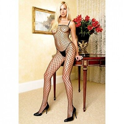 Tuta A Rete Aperta Fishnet Black Unica