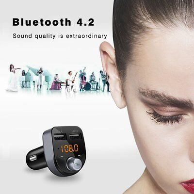 Wireless Bluetooth Car FM Transmitter Radio MP3 Music Player LCD USB Charger 7P