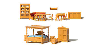 Preiser Country House Furniture 17710 HO Scale (suit OO also)