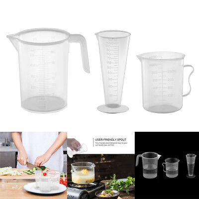 100 250 500 ML Laboratory Plastic Graduated Beaker Clear Measuring Cup Container
