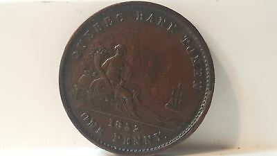 1852 Penny province of Quebec Bank token PC-4 Canada