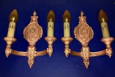 Beautiful Wired pair of RIDDLE Co. sconces with original copper finish 51D