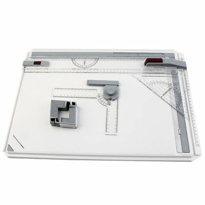 Portable Drafting A3 Drawing Board & Kit Drawing Head, Tilters & Set Square Lot