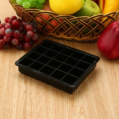 20-Cavity Large Cube Ice Pudding Jelly Maker Mold Mould Tray Silicone Tool WV