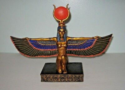Ancient Egyptian Mother Goddess Isis Open Wings Statue Figurine