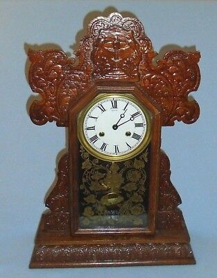 Vintage Hand Crafted Wood Clock Key Wind with Chime Made in USA