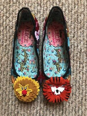 "Irregular Choice Alice In Wonderland ""Talk to the flowers"" Shoes"