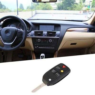 5 Button Remote Case Fob Flip Key Shell fit for VOLVO S60 S80 V70 XC70 XC90 DF