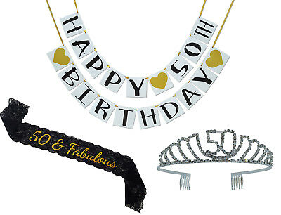 50th Birthday Party Supplies And Decorations Pack