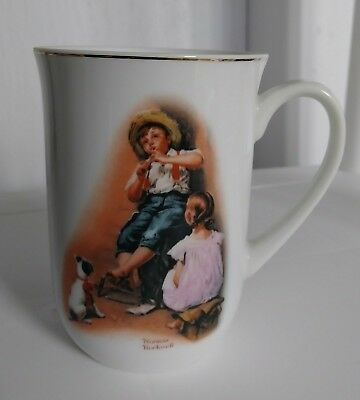 Norman Rockwell The Music Maker 1981 Cup Coffee Tea Vintage Collectable