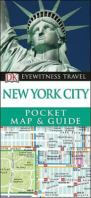 New York City Pocket Map and Guide by DK Travel Paperback Book Free Shipping!