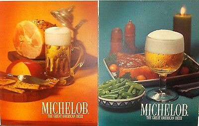 vtg 1960s lot Anheuser Busch Michelob Beer salesman acrylic sign posters light