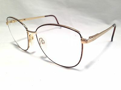 Luxottica Janice GEP Mauve Gold Electroplate Womens Rx Eyeglasses 56/16~130