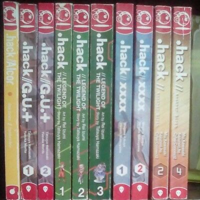 .hack Legend of the Twilight 1-3 Plus 7 Lot of 10 Manga, English, 13+, Hamazaki