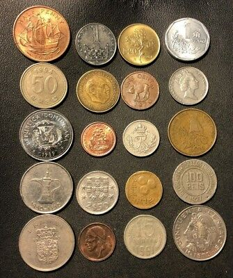 Coins of the World Lot - 20 Different Nations - FREE SHIP - Lot #611