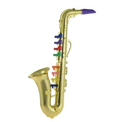 Saxophone Sax Toy Musical Instrument Gift with 8 Colored Keys for Kids N6Q9