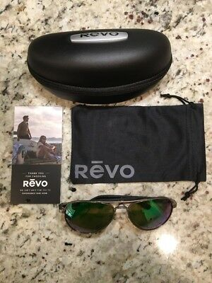 8d211c06ed6 NEW! REVO RACONTEUR RE 1011 00 Polarized sunglasses. Gunmetal green ...