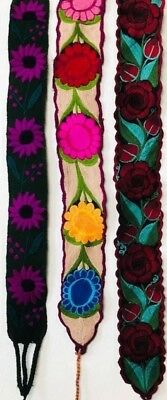 PalomArt BELT- EMBROIDERED MEXICAN BEAUTIFUL BELT ONE SIZE MULTICOLORED